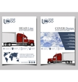 Trucking Flyer design template vector image