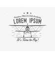 Vintage airplane emblem Biplane label Retro vector image
