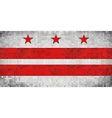 Abstract Mosaic flag of Washington DC vector image
