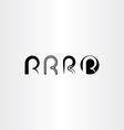 letter r set icon black collection element vector image