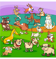 spotted dogs cartoon characters group vector image vector image