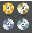 modern cd icons set vector image vector image