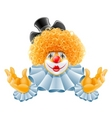 cartoon clown vector image