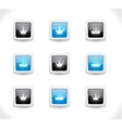 crown icons vector image vector image