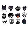 Set mountains logo labels and design elements vector image
