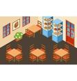 Pizzeria interior vector image vector image