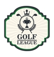 golf league design vector image