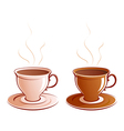 Classic cups vector image