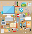 flat modern design concept of creative school vector image