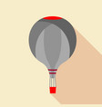 grey hot air balloon icon flat style vector image