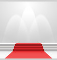red carpet on stairs vector image