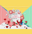 valentine day card for sale banner template vector image
