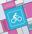 Cyclist icon sign Modern flat style for your vector image