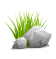 Stones with grass vector image