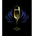 wineglass of champagne vector image