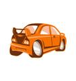 Cartoon style sports car isolated vector image