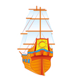 ship sails vector image vector image