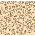 seamless floral pattern with leaves and vector image vector image