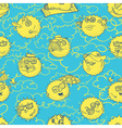 summer seamless pattern with sun vector image