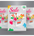 Back to school Sale flyer template vector image