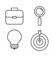 business set line icons vector image