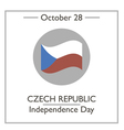 Czech Republic Independence Day vector image