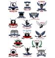 Ice hockey sport icons and symbols vector image