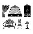 interior elements vector image