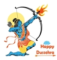 Lord Rama with bow arrowHappy Dussehra vector image