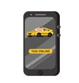modern flat Taxi online application vector image