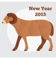 New Year of the Goat or Sheep 2015 polygonal vector image