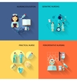 Nurse icon set flat vector image