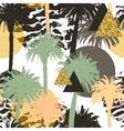 Tropical palm trees seamless background vector image