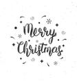 Merry Christmas handwritten brush lettering vector image