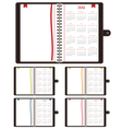calender notebooks 2013 vector image vector image