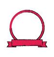 label banner badge empty ribbon emblem vector image