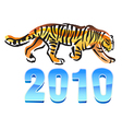 2010 year of tiger vector image