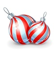 christmas ball for firtree vector image vector image