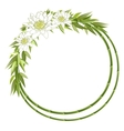 bamboo round frame vector image