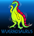 Wuerhosaurus cute character dinosaurs vector image