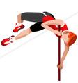 Athletics Pole Vault 2016 Sports 3D vector image