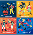 carnival doodle design concept vector image