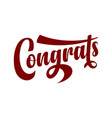 congrats calligraphic text vector image