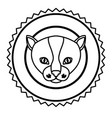 emblem cat hunter city icon vector image
