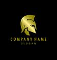 gladiator gold logo black background vector image