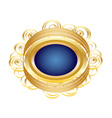 Golden Brooch vector image