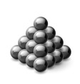 Pyramid of magnetic balls vector image