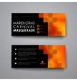 Set of modern design banner template in Mardi Gras vector image