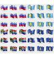 Slovenia Palau South Africa Kosovo Set of 36 flags vector image