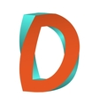 Twisted Letter D Logo Icon Design Template Element vector image